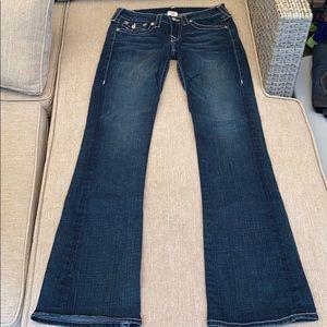 True Religion Becky size 28 jeans rhinestone